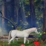 Enchanted Forest Screensaver 3.11 — Скрин «Единорог».